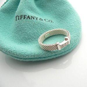 Tiffany & Co. Somerset Diamond mesh ring size 6.5